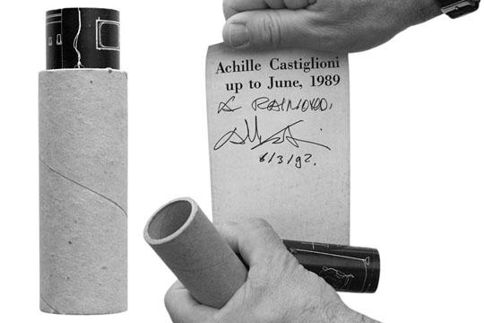 Achille Castiglioni, dedicated to Efrem Raimondi