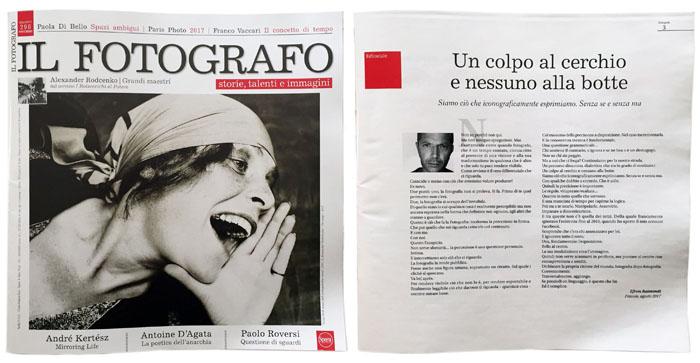 IL FOTOGRAFO - Editoriale novembre 2017